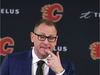 Calgary Flames GM Brad Trelving speaks to media in Clagary at the Saddledome on Friday, November 29, 2019. The NHL team officially announced Bill Peters will no longer coach the team and it has accepted Peters' resignation. Jim Wells/Postmedia