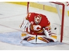 The puck hits the back of the net behnd goalie David Rittich for Canucks second goal during NHL action between the Calgary Flames and the Vancouver Canucks in Calgary on Sunday, December 29, 2019. Jim Wells/Postmedia
