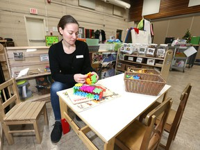 Kate Stenson, executive director for the Hillhurst-Sunnyside Community Association, poses in the daycare at the northwest Calgary facility on Friday, December 6, 2019.