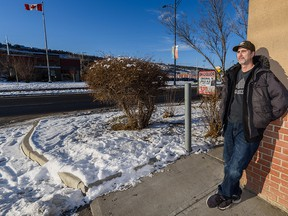 Vern McCarty, who witnessed a fatal shooting Thursday night on 16th Avenue N.W., stands near the scene on Friday, Dec. 27, 2019.