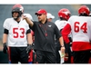 Calgary Stampeders offensive line coach Pat DelMonaco during practice on Thursday, August 31, 2017. Al Charest/Postmedia