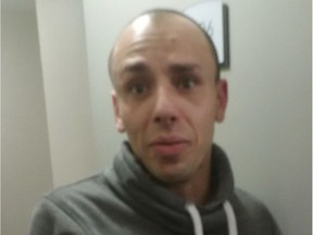 Photo of Vasilios (Bill) Georgopoulos who is on trial for sexual assault causing bodily harm, assault with a weapon, unlawful confinement and uttering death threats. He's accused of physically and sexually assaulting a woman at a Calgary hotel while armed with a knife on Oct. 5, 2017. The photo was taken by an investigating officer who door-knocked the hotel room where the woman said she was raped and snapped these cellphone shots of Georgopolous.