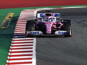 Lance Stroll of Canada drives the Racing Point RP20 Mercedes during Formula 1 Winter Testing at Circuit de Barcelona-Catalunya on February 19, 2020 in Barcelona. (Rudy Carezzevoli/Getty Images)