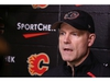 Calgary Flames head coach Geoff Ward commented on the Mark Giordano injury following team practice on Wednesday, February 5, 2020.  Gavin Young/Postmedia