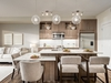 The kitchen in the Findlay show suite at Auburn Rise by Logel Homes in Auburn Bay. Courtesy, Logel Homes