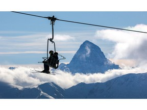 Great Divide lift at Banff's Sunshine Village offers a breathtaking view of Mount Assiniboine the highest peak in the Southern Continental Ranges of the Canadian Rockies. Al Charest / Postmedia  ORG XMIT: POS1904031715394340