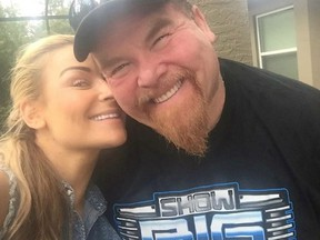 """Nattie with her dad, Jim """"The Anvil"""" Neidhart. (Supplied Photo)"""