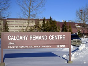 Calgary Remand Centre pictured during the winter months in Calgary, Alta., on February 10, 2017.