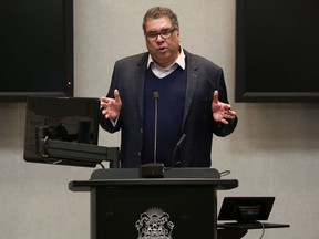 Mayor Naheed Nenshi updated Calgarians on the city's response to the COVID-19 pandemic on Monday, March 23, 2020. Gavin Young/Postmedia