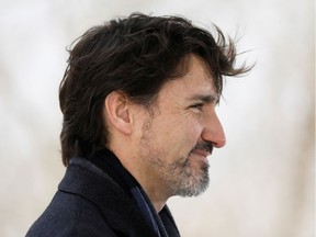 Canada's Prime Minister Justin Trudeau attends a news conference at the Rideau Cottage, as efforts continue to help slow the spread of the coronavirus disease (COVID-19), in Ottawa, Ontario, Canada April 16, 2020.