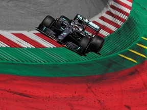 Lewis Hamilton in action during the Austrian Grand Prix at Red Bull Ring, in Spielberg, Austria, June 30, 2019.