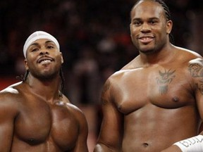 Shad Gaspard (right) and JTG were known as the tag team, Cryme Tyme.