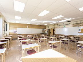 Pictured is a classroom in Henry Wise Wood High School that could accommodate a cohort of up to 38 students on Friday, August 28, 2020.