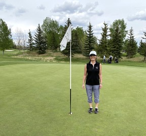Kim Young, a member at Lynx Ridge Golf Club in Calgary, has celebrated three aces so far in 2020.