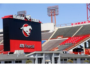 McMahon stadium will remain empty in Calgary as the CFL cancelled the 2020 season on Monday. Photo by Darren Makowichuk/Postmedia.