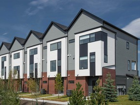 The first townhome project in the Springbank community of Harmony has been launched by StreetSide Developments.
