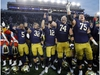 CP-Web.  FILE - In this Nov. 2, 2019, file photo, members of the Notre Dame football team sing after an NCAA college football game against Virginia Tech in South Bend, Ind. The Atlantic Coast Conference and Notre Dame are considering whether the Fighting Irish will give up their treasured football independence for the 2020 season play as a member of the league. (AP Photo/Carlos Osorio, File) ORG XMIT: 891dcf18c40d44bb89812089eff8e6cd-891dcf18c40d44bb89812089eff8e6cd-0