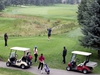 Golfers are seen enjoying the links at Elbow Springs Golf Club on Saturday, Sept. 19, 2020. Brendan Miller/Postmedia