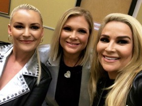 Renee Young, Beth Phoenix and Nattie backstage at Smackdown Live.