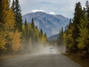Dusty Highway 40 west of Chain Lakes, Ab., on Tuesday, September 22, 2020. Mike Drew/Postmedia