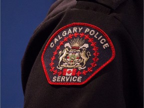 A Calgary police service emblem is seen in this file photo.