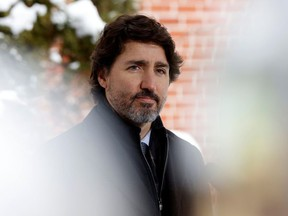 Canada's Prime Minister Justin Trudeau attends a news conference at Rideau Cottage in Ottawa, Ontario, Canada Jan. 5, 2021.