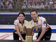 Kerri Einarson of Gimli Man., and Brad Gushue, of St.John's Nfld., defeat Kadriana Sahaidak and Colton Lott to capture the Home Hardware Canadian Mixed Doubles Curling Championship.