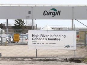 The Cargill meat-packing plant in High River.