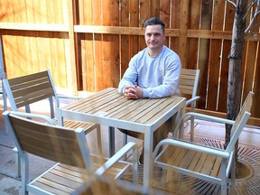 Jeff Jamieson, owner of Donna Mac Restaurant and Proof Cocktail Bar, was photographed on the restaurant patio on Monday, May 3, 2021.