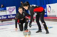 Brad Gushue and Kerri Einarson of Canada settled for a fourth-place ginish at the Wworld mixed doubles curling championships in Aberdeen Scotland.