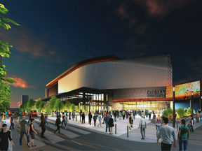The latest rendering of what Calgary's new arena could look like.
