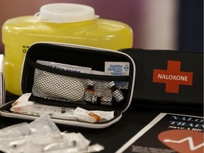 A naloxone kit used to reverse the effects of an opioid poisoning.