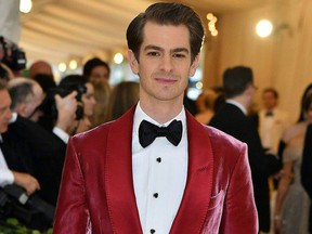 Andrew Garfield arrives for the 2018 Met Gala on May 7, 2018, at the Metropolitan Museum of Art in New York.