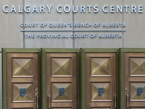Front entrance to the Calgary Courts Centre.