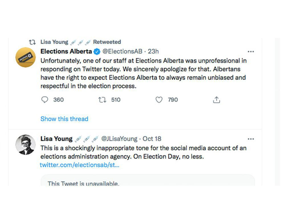 Elections Alberta launches formal review of social media policies after election day Twitter spat