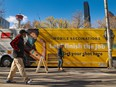 The City of Calgary's mobile COVID-19 vaccination bus was parked in front of City Hall on Thursday, October 7, 2021.
