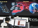 A photo taken on May 15, 2017 shows staff monitoring the spread of ransomware cyber-attacks at the Korea Internet and Security Agency (KISA) in Seoul.