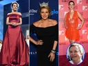 Betty Cantrell (left), Molly Hagan (centre) and Kate Shindle (right) are among the former Miss Americas who have spoken out after disparaging emails from pageant CEO Sam Haskell' (inset) came to light. (Michael Loccisano/Getty Images for dcp/Larry Busacca/Getty Images for GLAAD/Scott Gries/Getty Images/AP/Mel Evans)