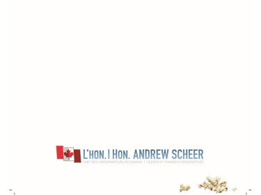 The rear page of Conservative Leader Andrew Scheer's Christmas card.