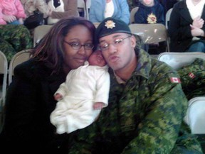 Shanna and Lionel Desmond hold their daughter Aaliyah in a photo from the Facebook page of Shanna Desmond. The Nova Scotia government has announced an inquiry into the deaths of a former soldier and his family nearly a year after the tragic murder-suicides sent shock waves across the country.