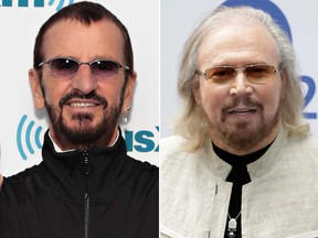 Music legends Ringo Starr and Barry Gibb have been awarded knighthoods in Queen Elizabeth II's New Year's Honours List. (Photo by John Phillips/Getty Images)