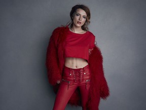"""Bella Thorne poses for a portrait to promote the film """"Assassination Nation"""" at the Music Lodge during the Sundance Film Festival on Monday, Jan. 22, 2018, in Park City, Utah."""