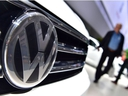 In this file photo taken on June 22, 2016 a Volkswagen logo is seen on a VW Tiguan on display during German carmaker Volkswagen shareholders' annual general meeting.