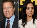 Arnold Schwarzenegger and Eliza Dushku. ( Michael Kovac/Getty Images for for J/P HRO Gala and Chris Pizzello/Invision/AP, File)