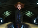 This photo provide by Disney shows Scarlett Johansson as Black Widow in a scene from Marvel's