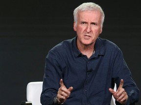 Director James Cameron of the television show AMC Visionaries: James Cameron's Story of Science Fiction speaks onstage during the AMC portion of the 2018 Winter Television Critics Association Press Tour on January 13, 2018 in Pasadena, California.  (Tommaso Boddi/Getty Images for AMC)