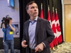 Finance Minister Bill Morneau speaks to the media on the first day of the Liberal government's cabinet retreat in London, Ontario on Thursday, January 11, 2018. The meeting comes a day after the loonie and Mexican peso plunged after reports that the Canadian government is more convinced than ever that President Donald Trump is poised to serve notice that he's pulling the US out of the North American Free Trade Agreement. THE CANADIAN PRESS/Geoff Robins ORG XMIT: GJR209