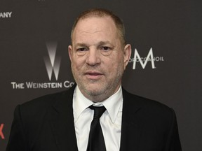 In this Jan. 8, 2017, file photo, Harvey Weinstein arrives at The Weinstein Company and Netflix Golden Globes afterparty in Beverly Hills, Calif.