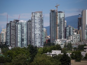Condo towers are seen in downtown Vancouver on Aug. 15, 2017.