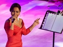 This file photo taken on July 28, 2017 shows Egyptian singer Sherine Abdel Wahab performing during the 53rd session of the Carthage International Festival at the Roman Theatre in the ancient Tunisian city.